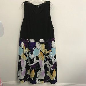 NWT City Chic Mixed Media Floral Sleeveless Dress